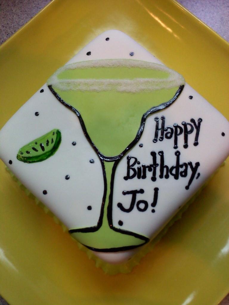 It's happy hour: margarita cake! |