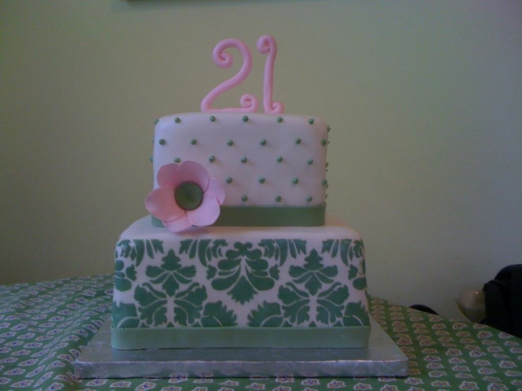 Gallery for 21st birthday cake decoration